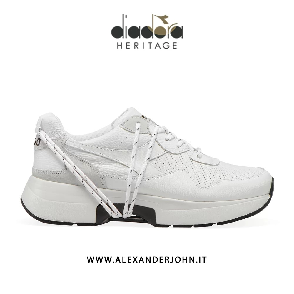 Diadora Heritage scarpe uomo n9000 txs h leather white