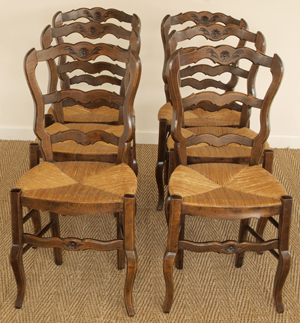 antique french dining table and chairs hanging australia uk country set of six fruitwood cafe