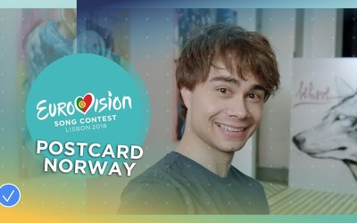 Postcard of Alexander Rybak from Norway – Eurovision 2018