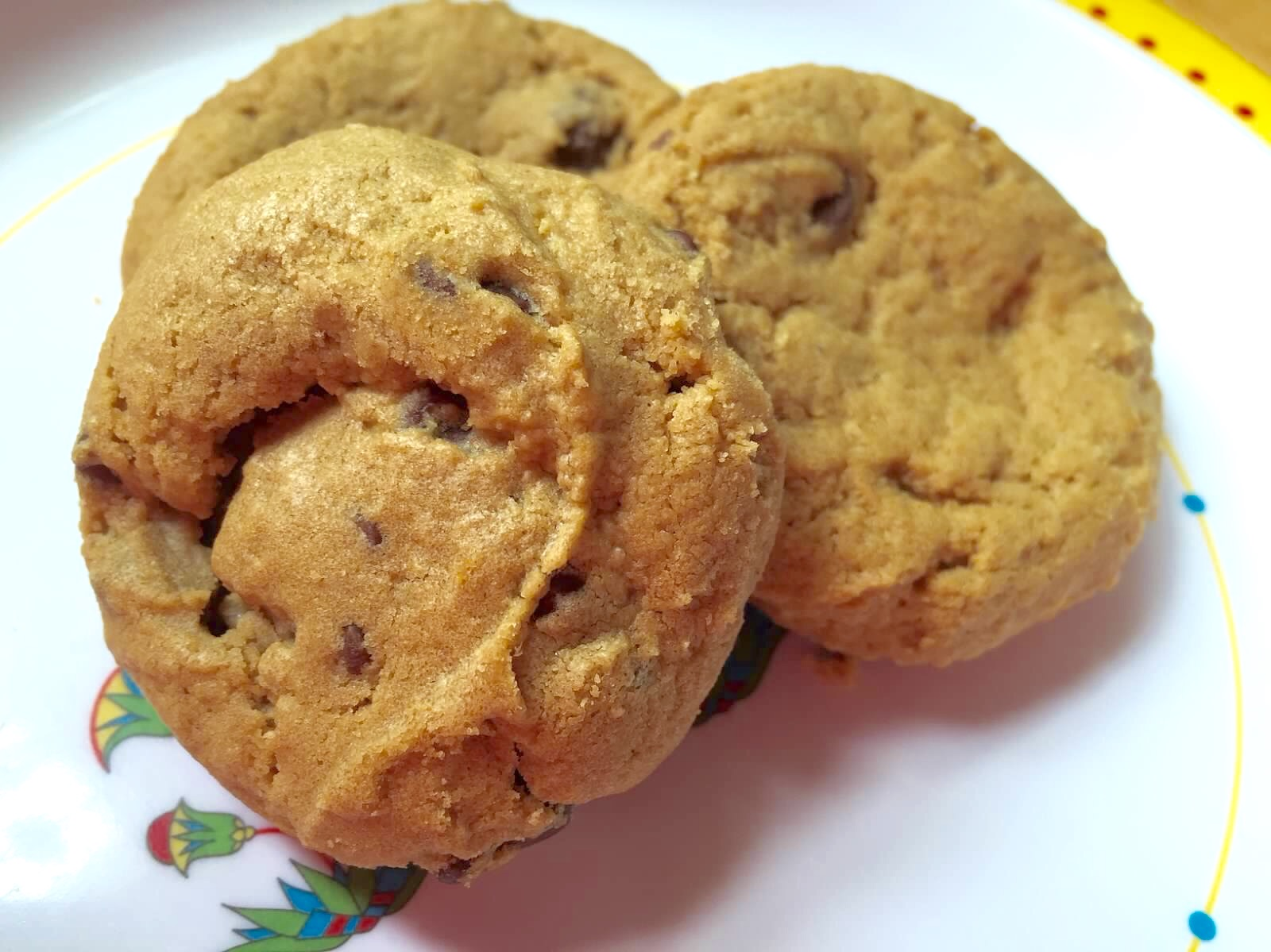 Gluten Free Awesome Peanut Butter Chocolate Chip Cookies from Alexandersmom.com