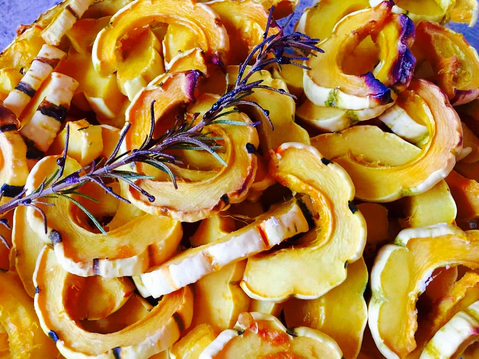 Roasted Rosemary Maple Delicata Squash from Alexandersmom.com