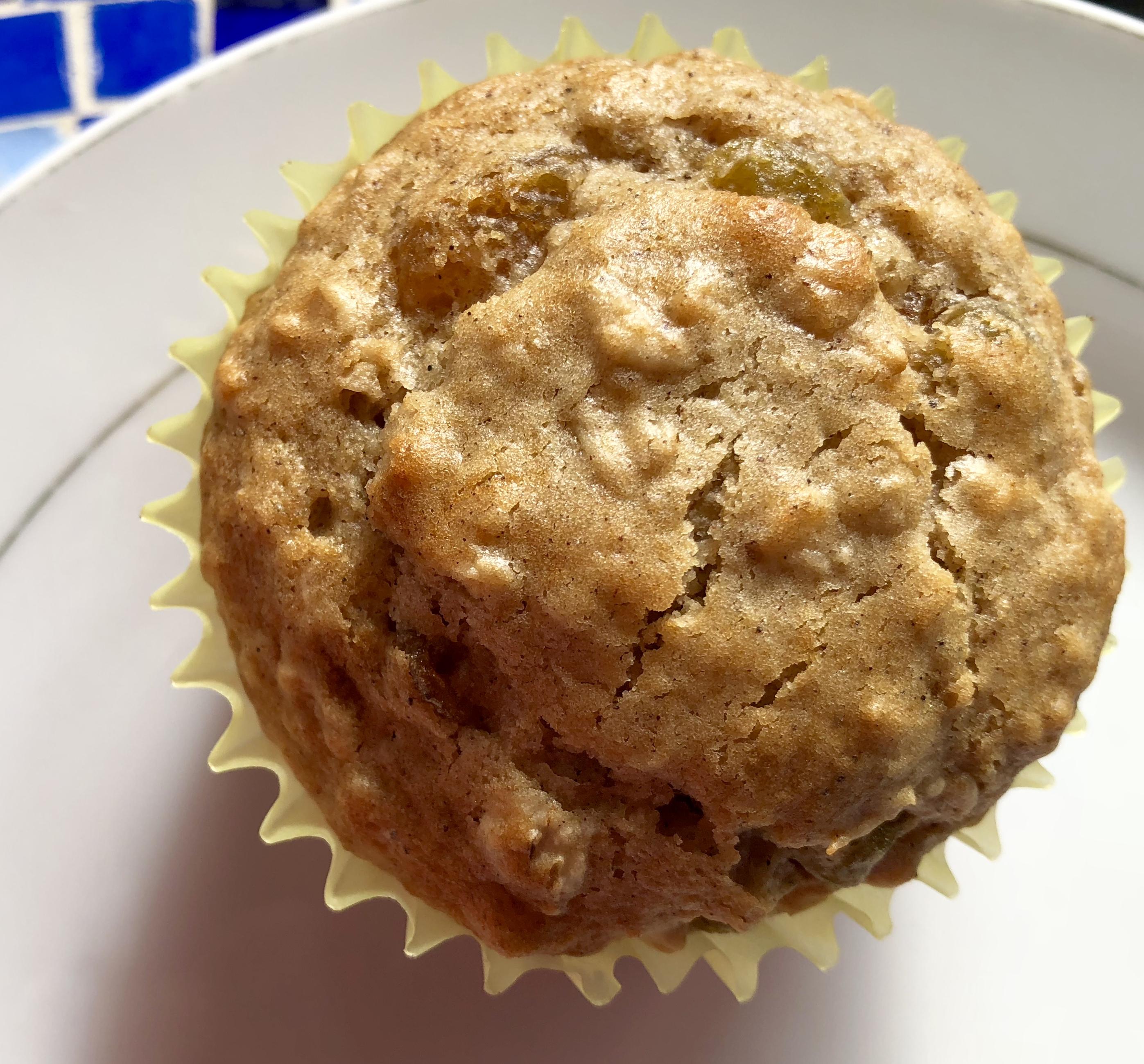 Oatmeal Golden Raisin Muffins from Alexandersmom.com