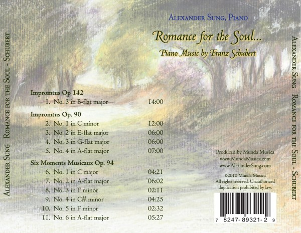 Romance of the Soul: Piano Music by Franz Schubert