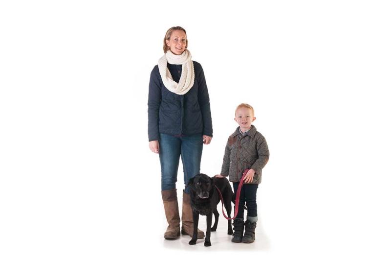 Family Portrait Photo Shoot with a dog in west sussex