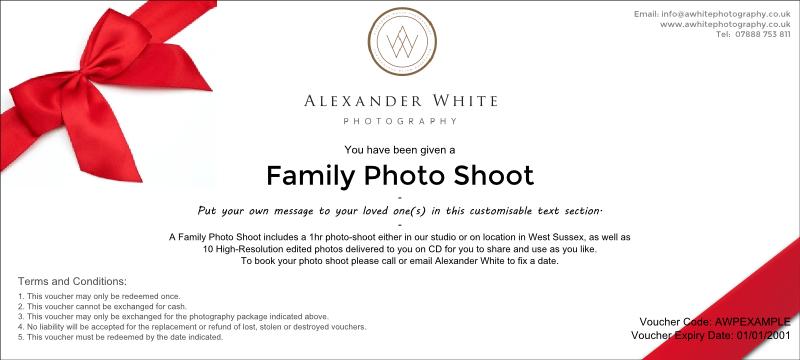 Family portrait photo voucher