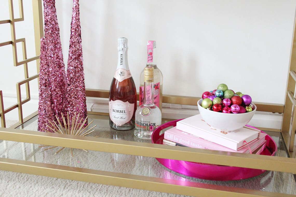 Christmas Morning Mimosa Bar Cart | Alexandra Adams