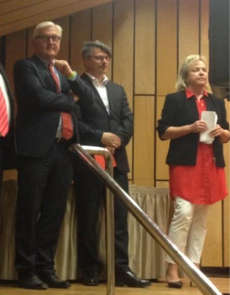 Mit Frank Walter Steinmeier bei der Verleihung des Karl Heinz Hiersemann Preises (2013)