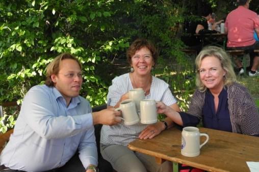 Kellerfest 2013 mit Nella Döbbelin, damals SPD-Ortsvereinsvorsitzende, und Christian Pech, stv. Landrat in Erlangen-Höchstadt