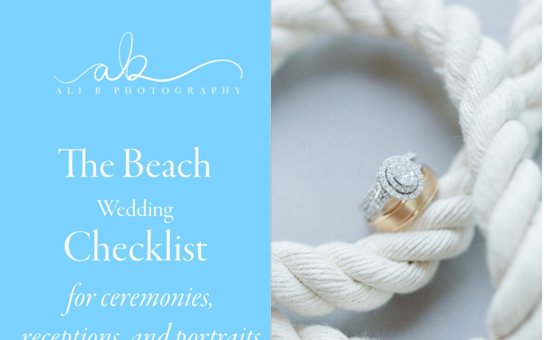 The Beach Wedding Checklist