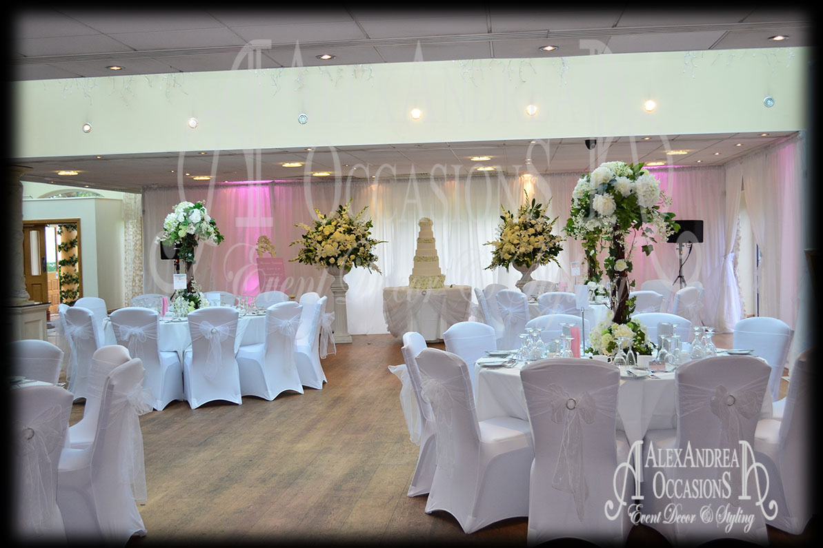 chair covers wedding london hydraulic facial event wall drape hire hertfordshire essex