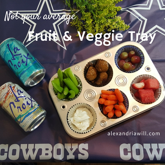 Not your average fruit and veggie tray for tailgating and main