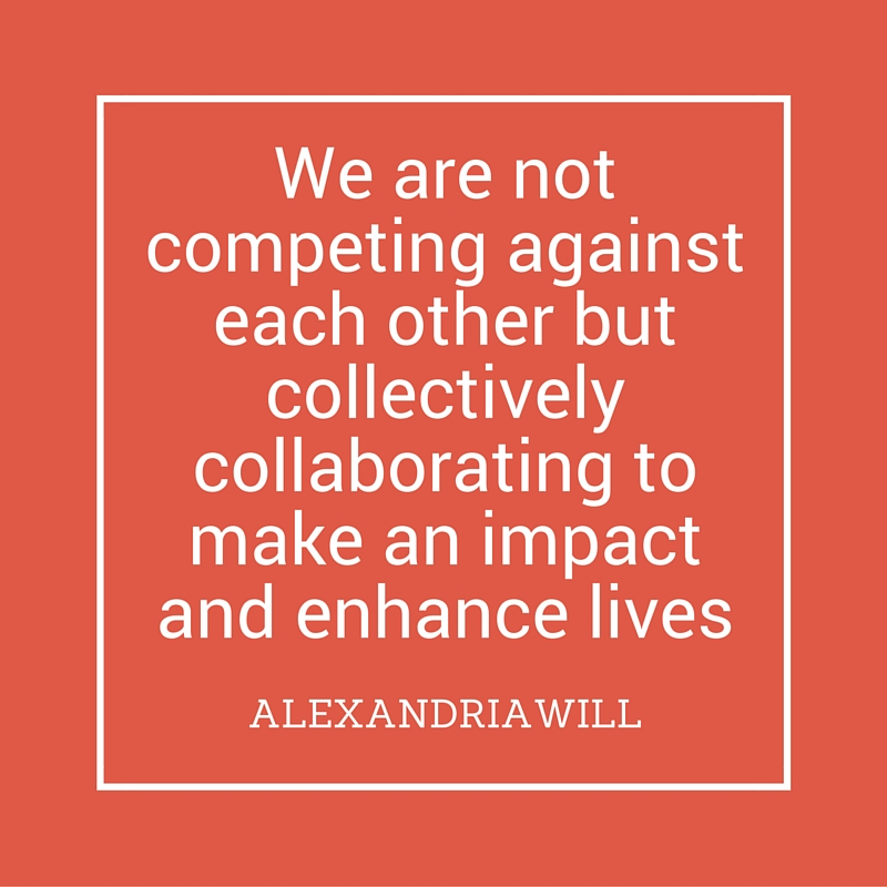 quote we are not competing against each other