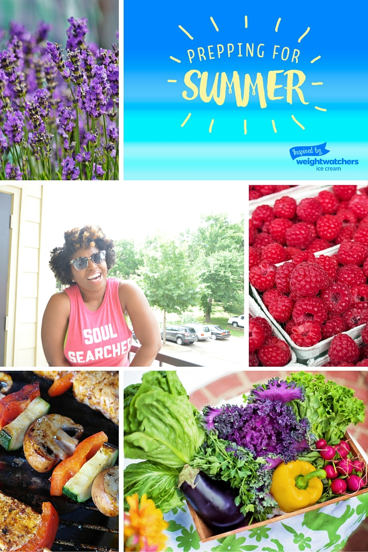 Mood Board for Weight Watcher Blog Post Summer Fun