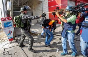 grenspolitie pepperspray journalisten