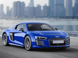 The new Audi R8 e-tron can drive it self