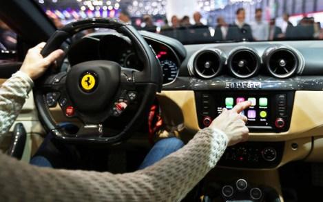 Apple's CarPlay in a Ferrari FF