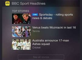 ‪‎BBC‬ Sport app now has a today widget