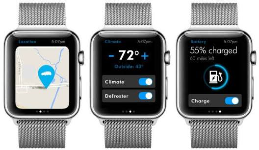 VW app for the Apple Watch