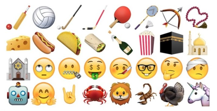 Some of the new Emoji in iOS 9.1