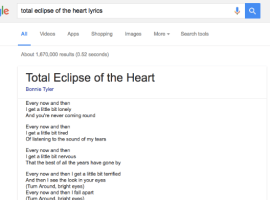Google adds song lyrics to search