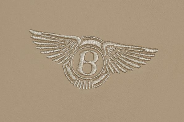 Zoom in as far as you can and you'll see the Bentley logo embroidered on the passenger seat