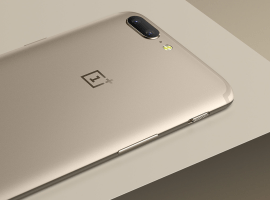 The OnePlus 5 is now available in 'Soft Gold'