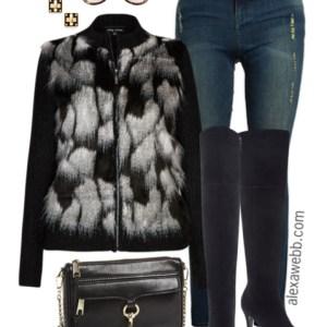 Plus Size Fashion - Plus Size Faux Fur Cardigan - Alexa Webb - alexawebb.com