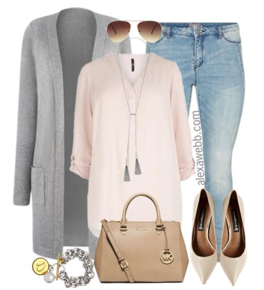 Plus Size Fashion for Women - Plus Size Casual Pastel Outfit - Alexa Webb - alexawebb.com