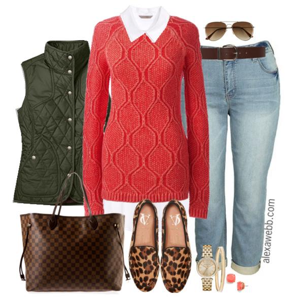 Plus Size Boyfriend Jeans Outfit - Plus Size Fashion for Women - Alexa Webb - alexawebb.com