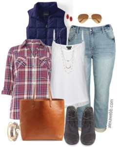 Plus Size Boyfriend Jeans Outfit - Plus Size Fashion for Women - Alexa Webb - alexawebb.com