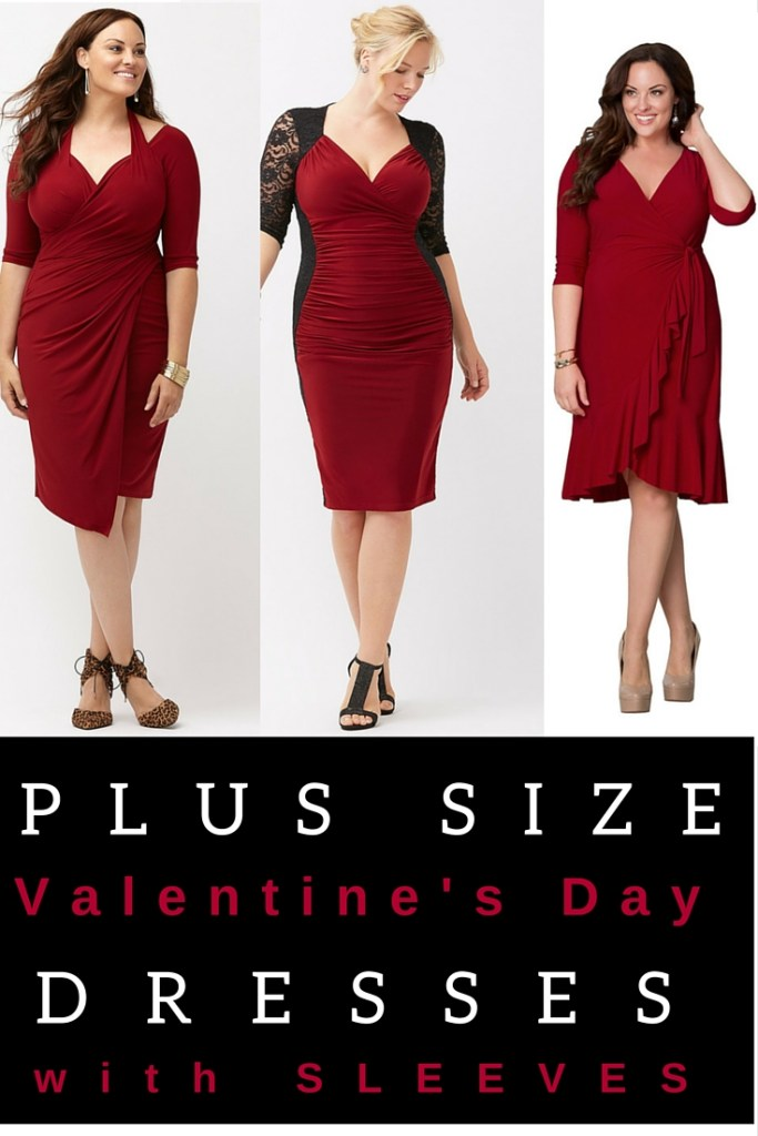 d803a9ac9ada5 Plus Size Red Dresses with Sleeves - Plus Size Valentine s Day Date Dresses  - alexawebb.