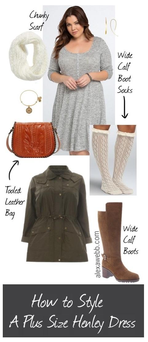 How to Style A Plus Size Henley Dress - Plus Size Outfit - Alexa Webb - alexawebb.com