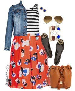 Plus Size Outfit Ideas - Plus Size Stripes and Skirts - Plus Size Fashion for Women - alexawebb.com #alexawebb #plus #size