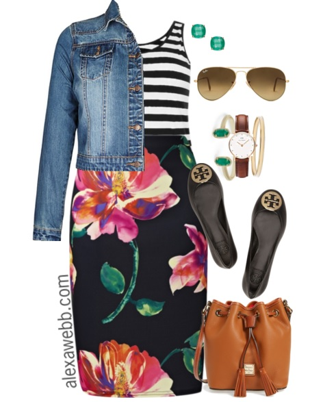 b4990ffc956e5 Plus Size Outfit Ideas - Plus Size Stripes and Skirts - Plus Size Fashion  for Women