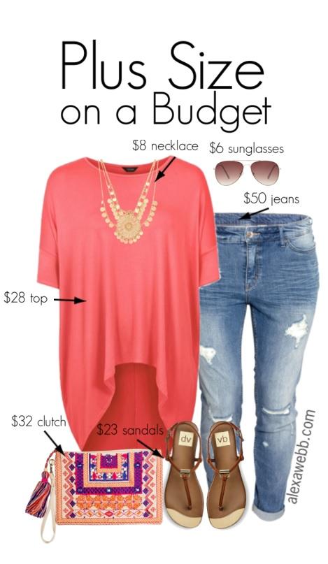 32bcadf7fe199 Plus Size Budget Outfit Idea - Plus Size Jeans - Plus Size Fashion for  Women -