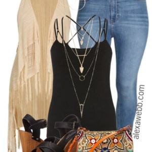 Plus Size Outfit Idea - Plus Size Boho Vest - Plus Size Fashion for Women - alexawebb.com #alexawebb