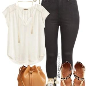 Plus Size Black Jeans Outfit - Plus Size Fashion - AlexaWebb.com