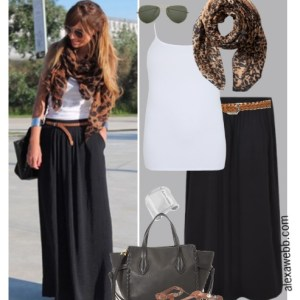 Straight Size to Plus Size - Black Maxi Skirt Outfit - Plus Size Fashion for Women - alexawebb.com