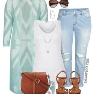 Plus Size Boho Jeans Outfit - Plus Size Fashion - Plus Size Outfit Idea - Alexawebb.com #alexawebb