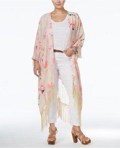 Plus Size Fringe Kimono Outfit - Plus Size Fashion for Women - Alexa Webb - alexawebb.com