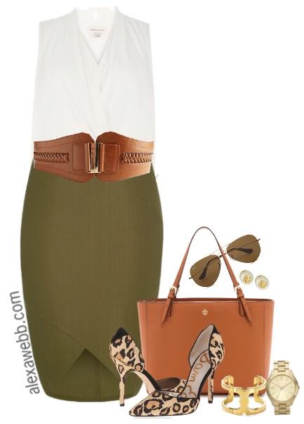 Plus Size Pencil Skirt Outfit - Plus Size Work Wear - Plus Size Fashion - Alexa Webb - alexawebb.com