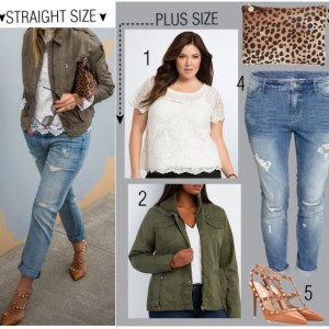 Straight Size to Plus Size - Lace & Denim Outfit - Plus Size Fashion - Alexawebb.com #alexawebb