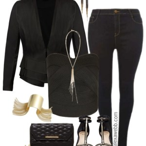 Plus Size Night Out in Dark Jeans - Plus Size Outfit Idea - Plus Size Fashion - alexawebb.com