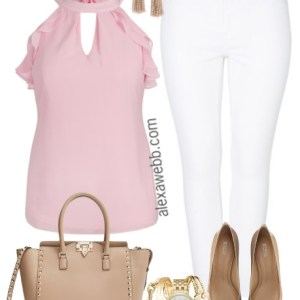 Plus Size White Jeans - Plus Size Casual Outfit Idea - Plus Size Fashion for Women - alexawebb.com