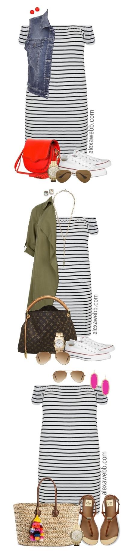 19e01cdecfd5 Plus Size Striped Dress Outfits - Plus Size Fashion - alexawebb.com