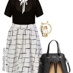 Plus Size Midi Skirt Outfit - Plus Size Work Wear - Plus Size Fashion - alexawebb.com #alexawebb