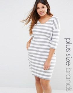 Plus Size Striped Dress - Alexa Webb