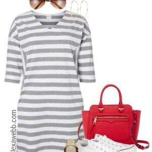 Plus Size Striped Dress - Plus Size Outfit Idea - Plus Size Fashion for Women - alexawebb.com #alexawebb