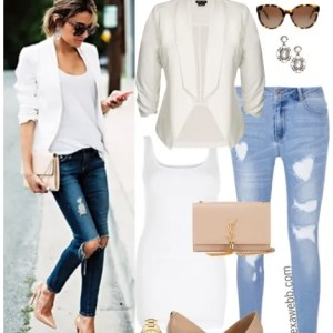 Straight Size to Plus Size - White Blazer & Jeans - Plus Size Outfit Idea - Plus Size Fashion for Women - alexawebb.com