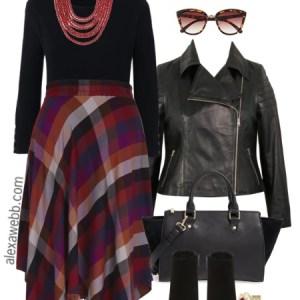 Plus Size Plaid Skirt Outfit - Plus Size Work Outfit - Plus Size Fashion for Women - alexawebb.com #alexawebb